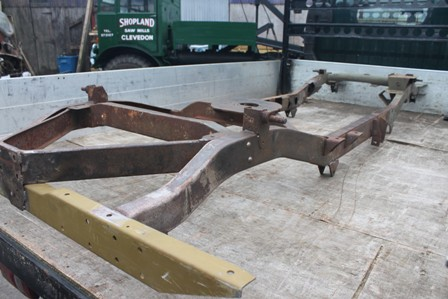 Willys chassis off to be blasted